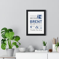 Premium Framed Baby Announcement Sign