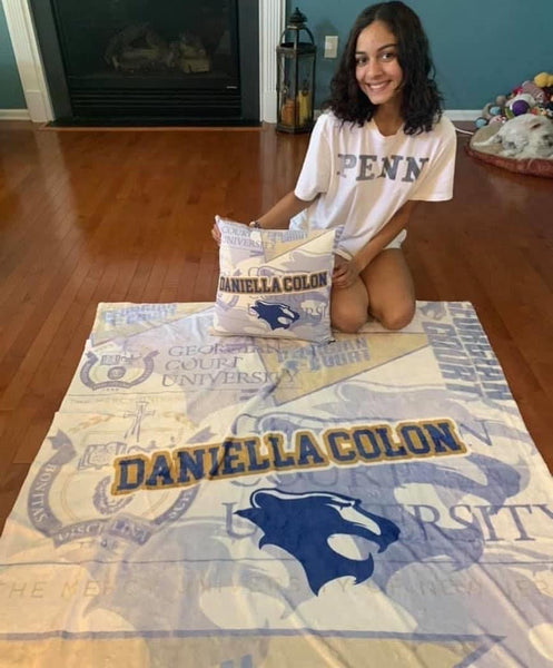 Custom College Square Pillow