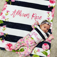 Baby Blanket and Bib Gift Set
