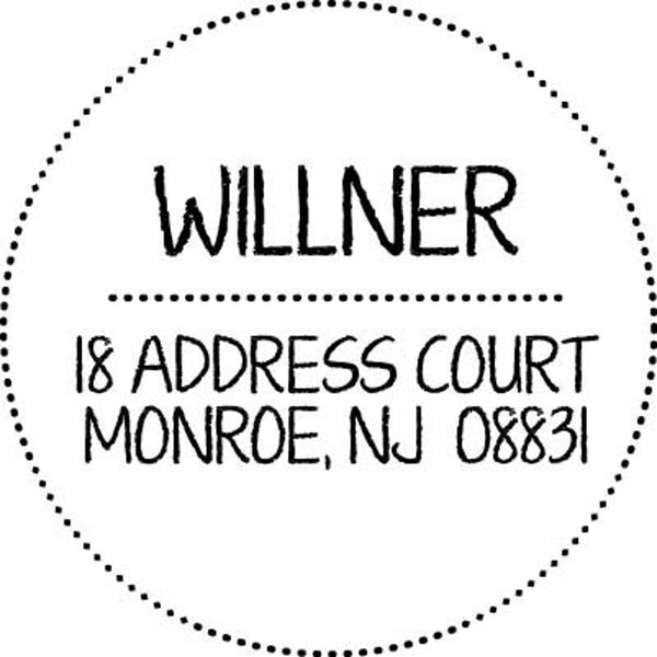 Customized Self Inking Address Stamp