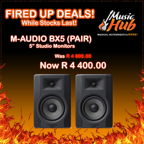 M-AUDIO BX5 STUDIO MONITORS! (FIRED UP DEAL!)