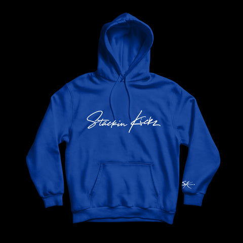 Royal Blue & White Signature Hoody