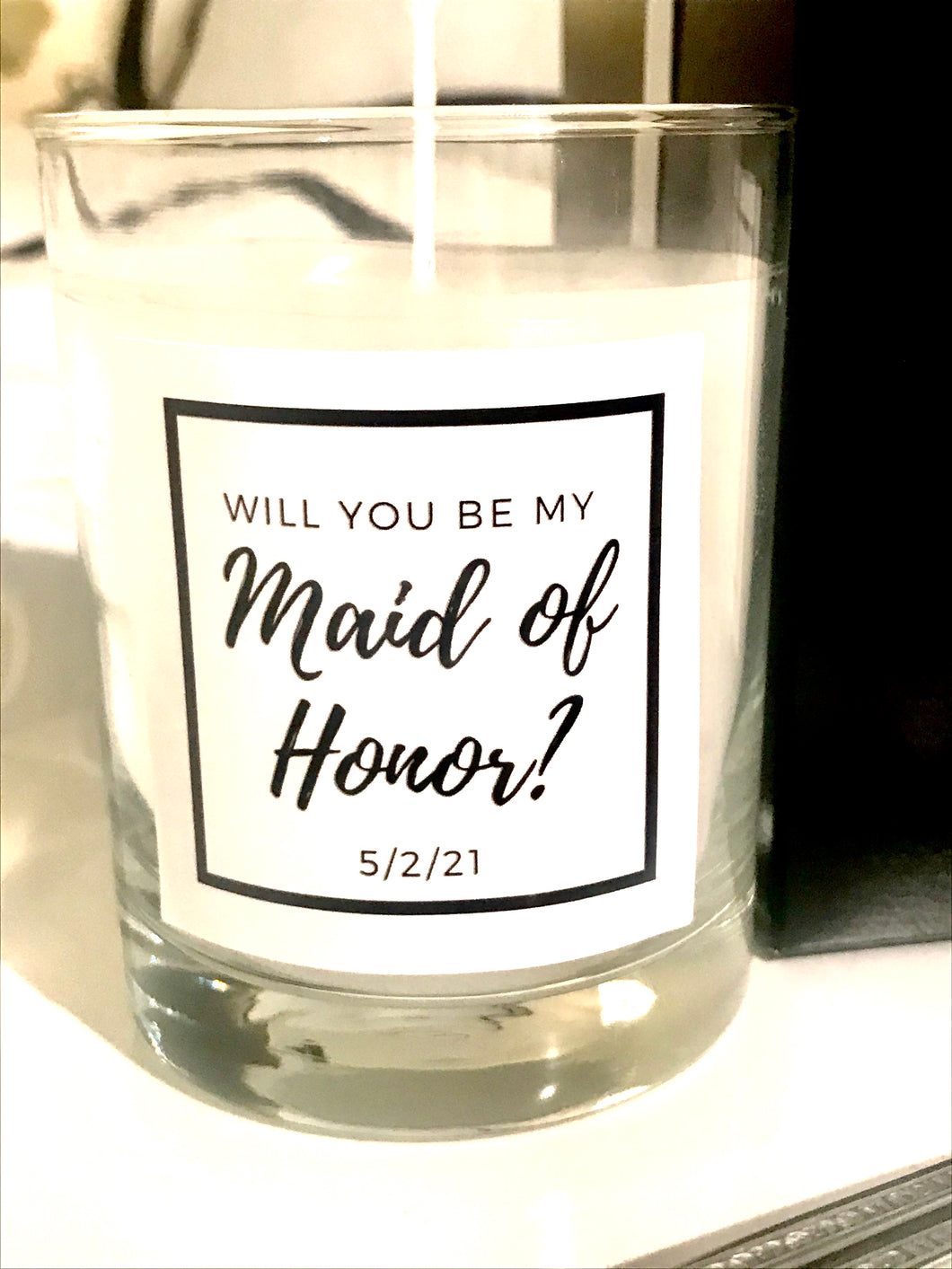 Will you be my Maid of Honor? Maison Margaux Custom Label Collection
