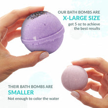 Load image into Gallery viewer, Handmade in USA - Bath Bombs Gift Set - 6x5oz Bombs - Natural and Organic - Gift for Men Women Teens Girlfriend – Bubble and Fizzies Bath Bomb with Moisturizing Shea Butter and Hemp Oil for Spa Bath