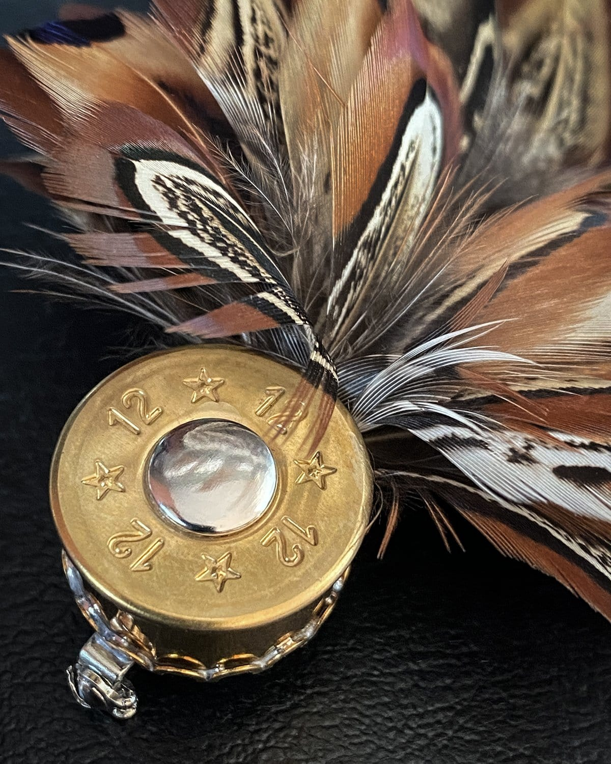 Curved Feather Pin by Wendy Goode