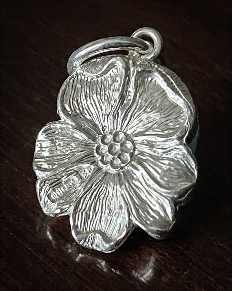 Flower & Bee Silver Pendant by Malcolm Appleby