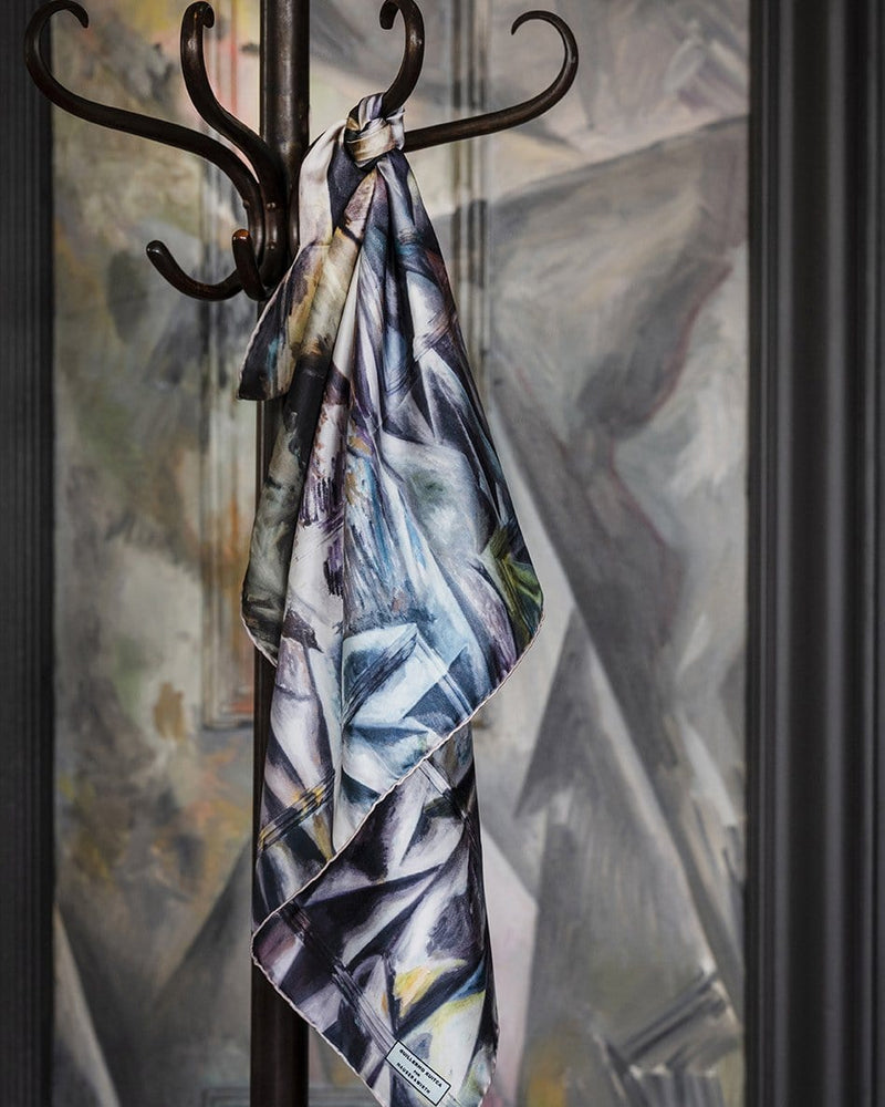 Guillermo Kuitca Large Silk Square Foulard by Jane Carr