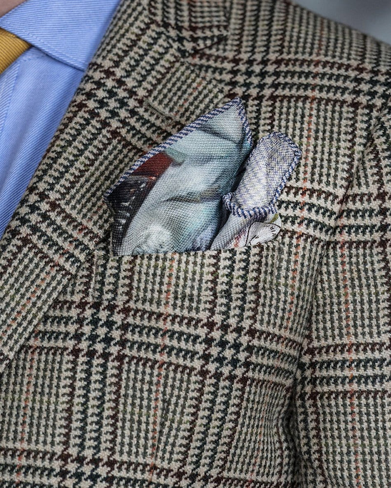Guillermo Kuitca Pocket Square by Jane Carr