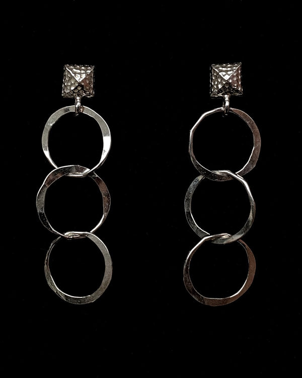 Round Chain Link Earrings