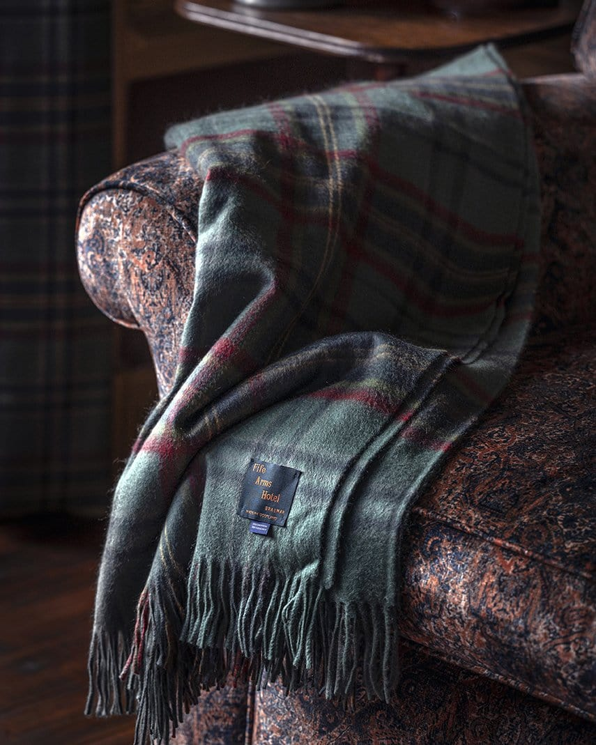 The Fife Arms Tartan Blanket by Araminta Campbell