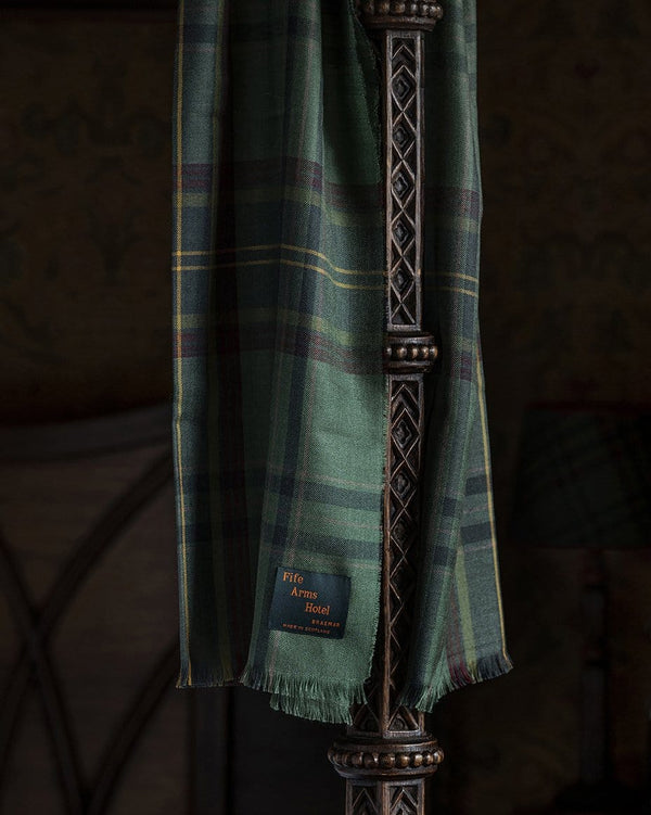 The Fife Arms Tartan Cashmere Silk Stole by Araminta Campbell