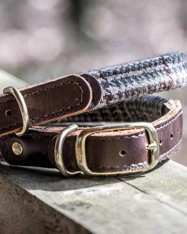 The Fife Arms Tweed & Leather Dog Collar