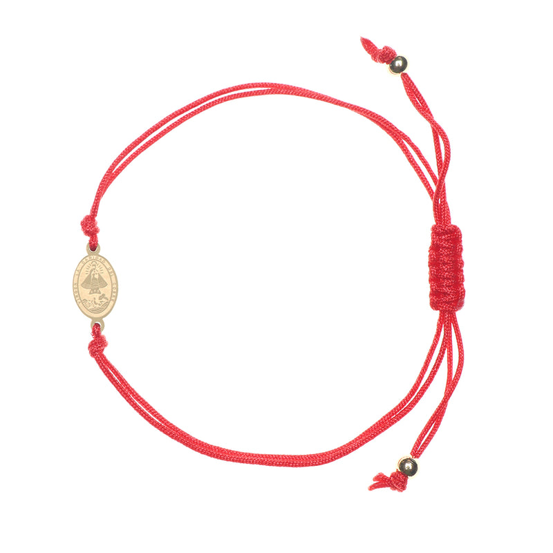 "Catholic adjustable red cord with stainless steel ""Virgen de la Caridad del Cobre"" medal (SSBCSMH-RED)"