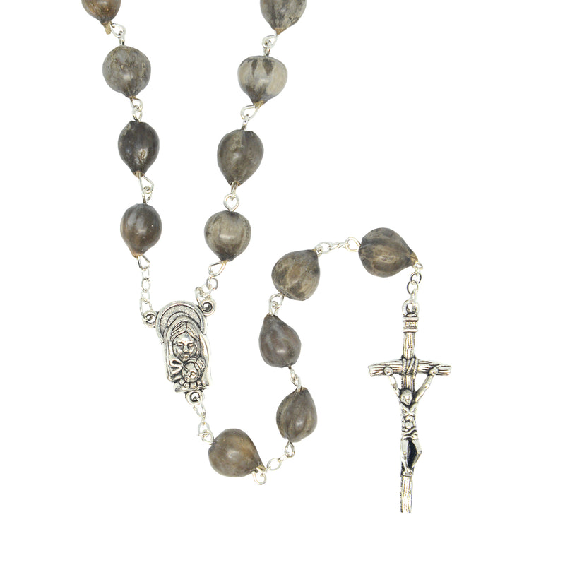 JOB'S TEARS ROSARY for difficult times (ROSNS-GREY)