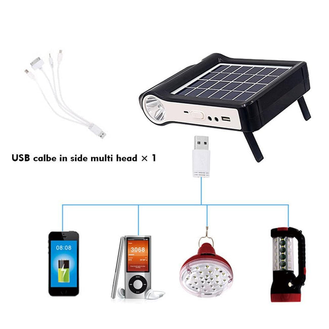 Waterproof Mobile Phone Solar Generator with Flashlight - Survivors Outlet