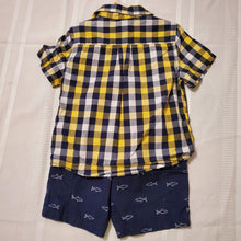 Load image into Gallery viewer, Healthtex Boy's 2pc Outfit w-Shorts-Navy/Yellow/White