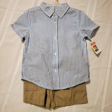 Load image into Gallery viewer, Healthtex Boy's 2pc Outfit-4T-Blue/White