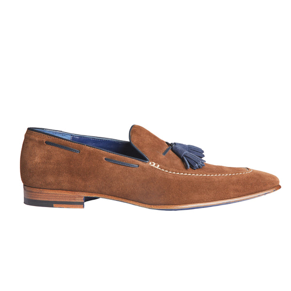 Martin Tassel in Brown Suede
