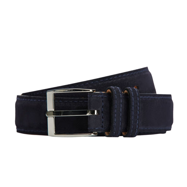 Suede Belt in Navy