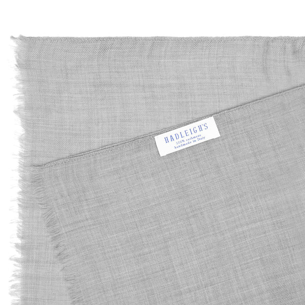 Dove Grey Cashmere Scarf