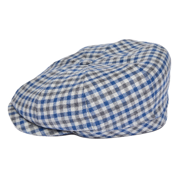 Newsboy Cap in Blue Check