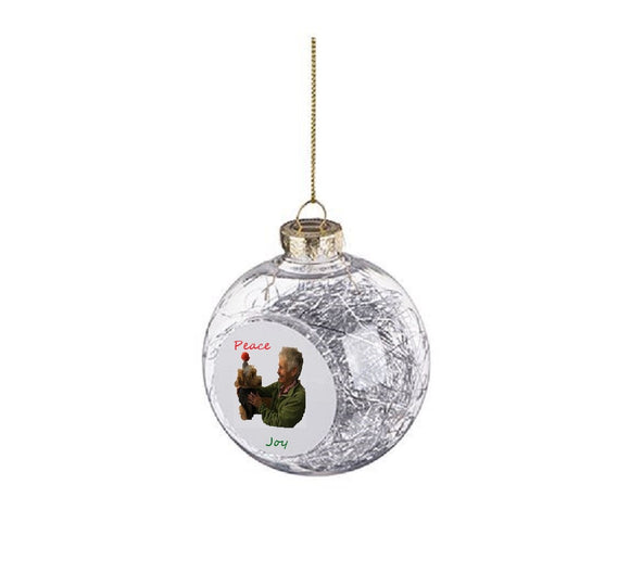 CUSTOMIZABLE CHRISTMAS BALL ORNAMENT WITH STRING