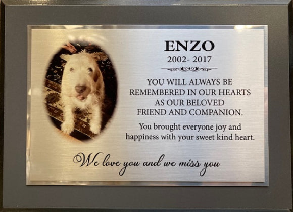 PET MEMORIAL- SYMPATHY KEEPSAKE PLAQUES
