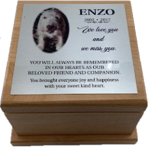 ENGRAVABLE WOODEN PET URN