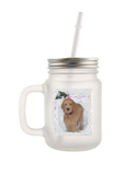 PERSONALIZED FROSTED MASON JAR BEVERAGE HOLDER