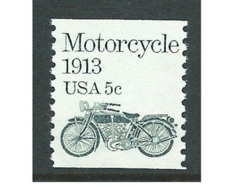 1913 Motorcycle Postage Stamp