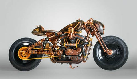 Custom Built Hard Rock Cafe Motorcycle Inspired by Rock and Roll