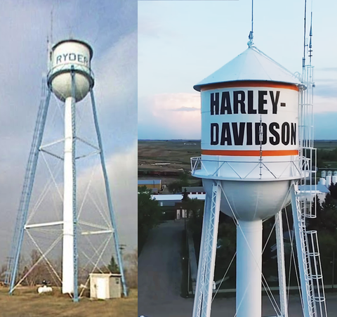 Ryder Water Tower Before and After