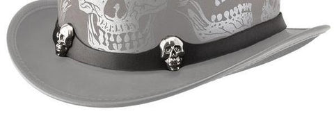Two skull hat band - The Biker Nation