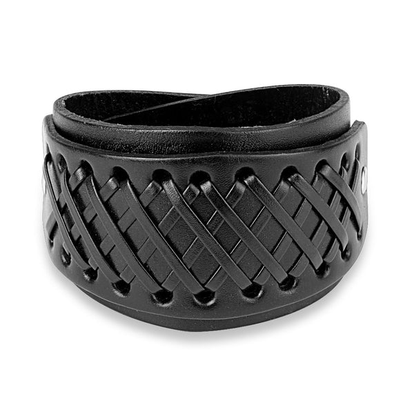 Cross Knots Brown Leather Bracelet - The Biker Nation