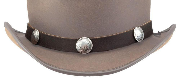 Buffalo Nickel Hat Band - The Biker Nation