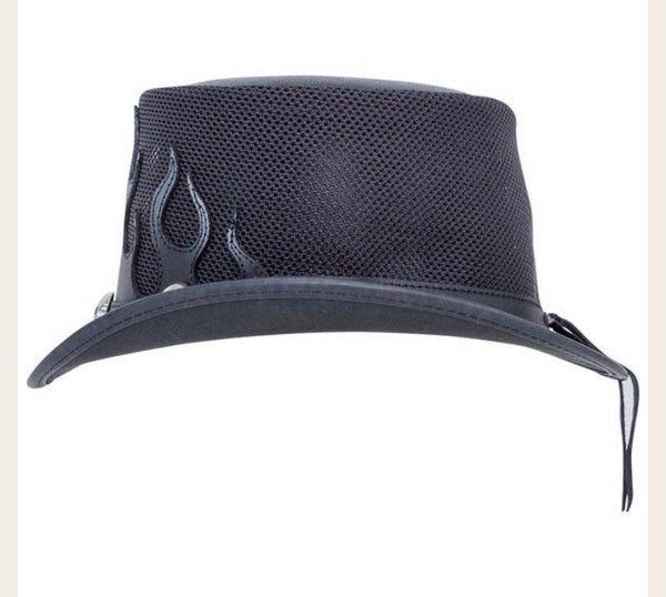 Flames mesh Top Hat