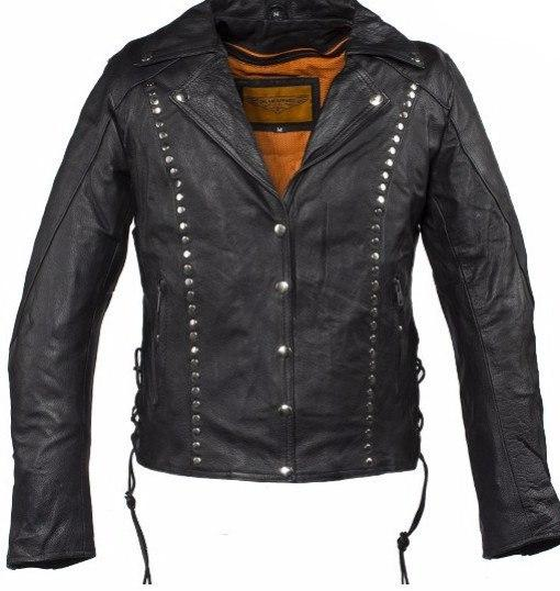 Studded Leather Concealed Carry Jacket for Women -  - The Biker Nation - 2