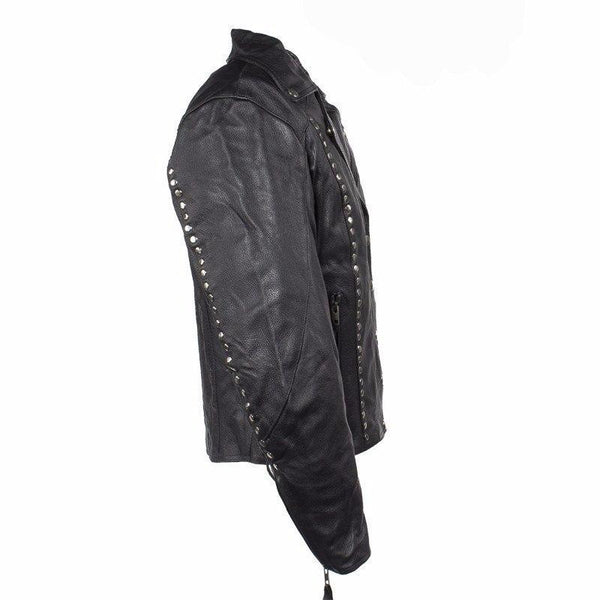 Studded Leather Concealed Carry Jacket for Women -  - The Biker Nation - 5