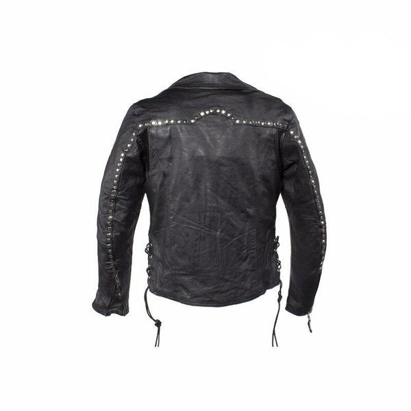 Studded Leather Concealed Carry Jacket for Women -  - The Biker Nation - 6