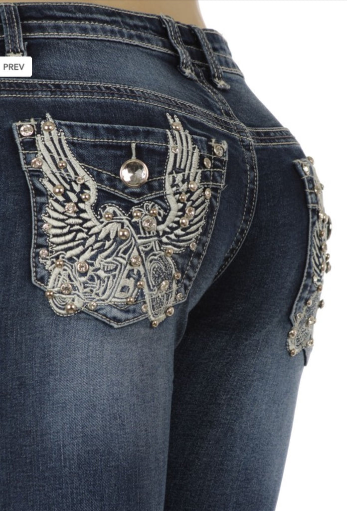 Women's Jeans Motorcycle Wings - 1 - The Biker Nation - 3