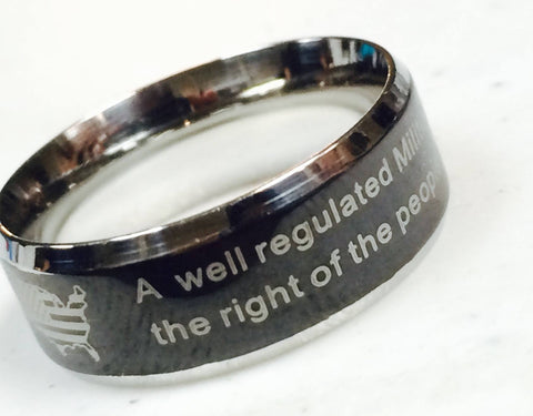 2nd Amendment Ring - 17 / Black - The Biker Nation - 1