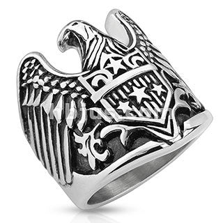American Eagle Wings - 9 / Stainless - The Biker Nation - 1