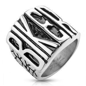 Biker Proud Stainless Steel Men's Ring - 15 / stainless - The Biker Nation