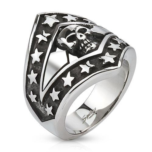 Patriotic Stars and Skull - 09 / Stainless - The Biker Nation