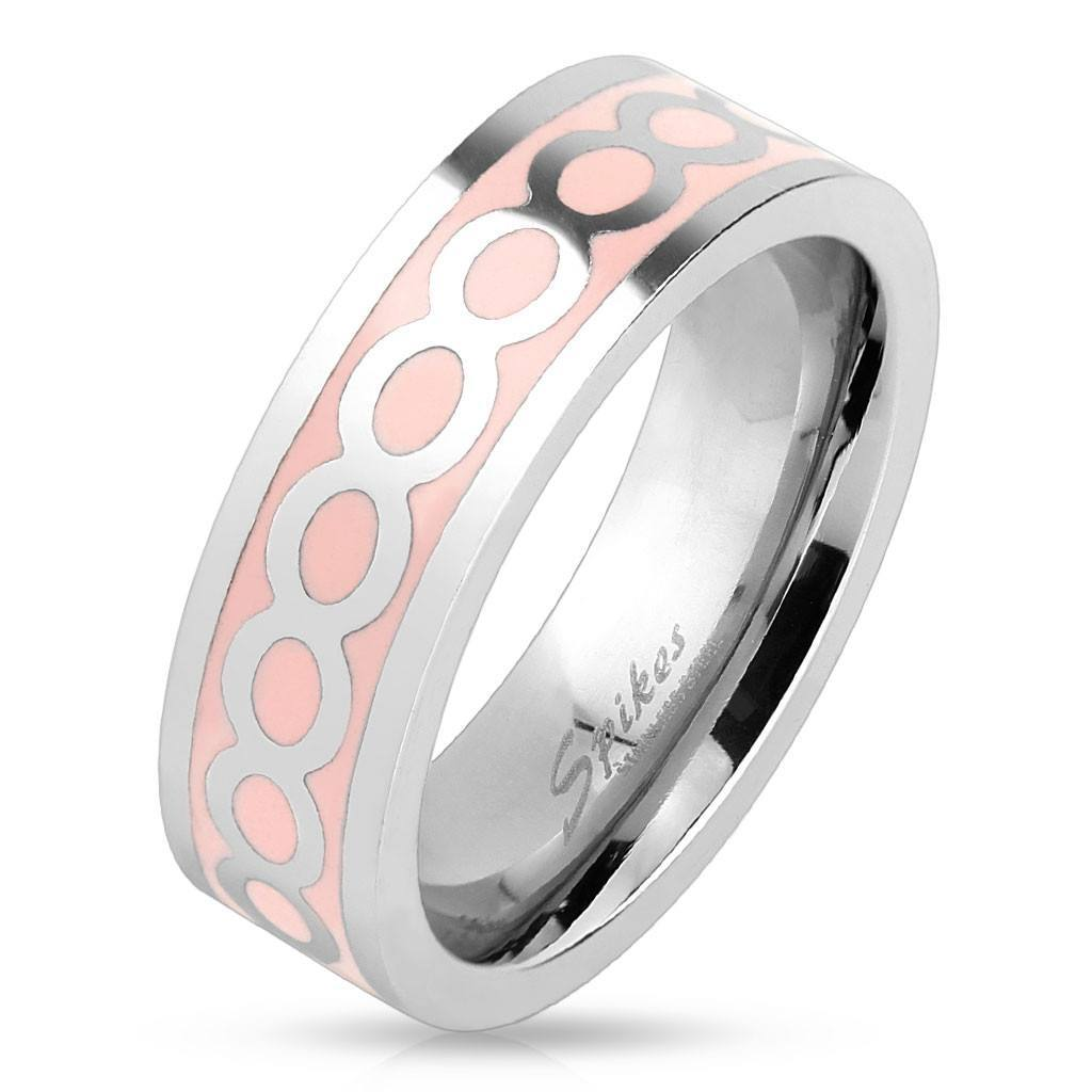 Pink Infinity Ring - 5 / Pink - The Biker Nation