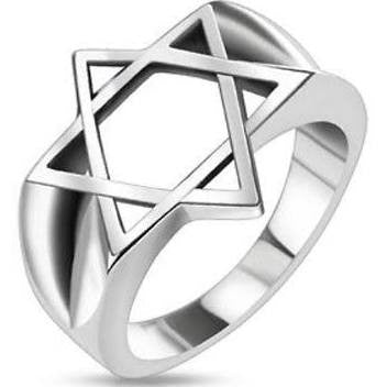 Star of David Stainless Steel Medallion Ring - 9 / Stainless Steel - The Biker Nation - 1