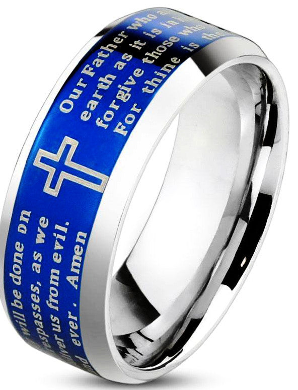 Lords Prayer Blue - 05 / Blue - The Biker Nation