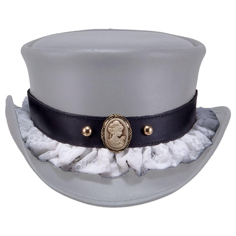 Lace Cameo Portrait Hat Band - The Biker Nation