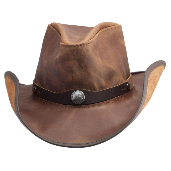 Western Freedom Pinched Crown Hat - The Biker Nation