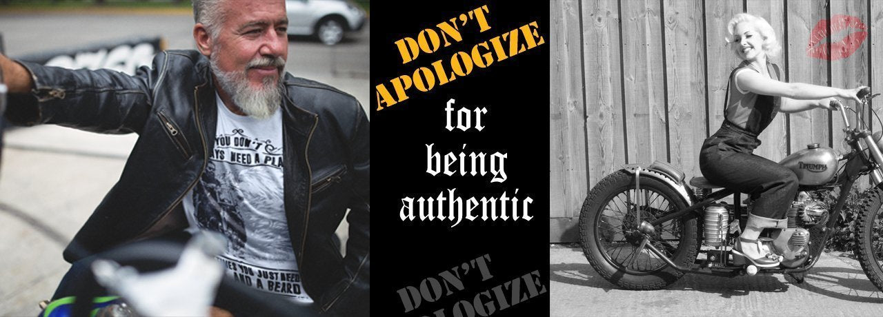 don't apologize for being authentic